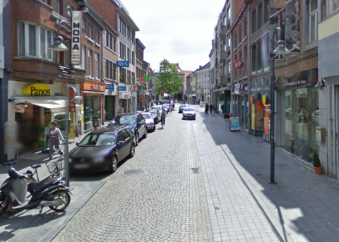 een foto van de stapelstraat in sint-truiden