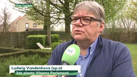 Ludwig tijdens interview met TV Limburg