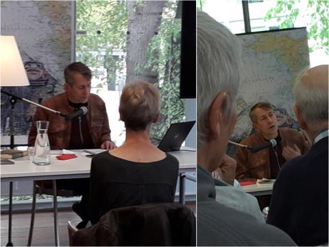 Chris Stoop tijdens de lezing