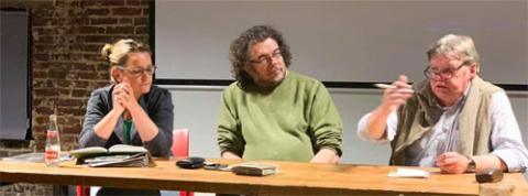 Ludwig tijdens het debat
