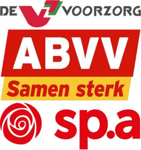 Logo's De Voorzorg, ABVV en sp.a