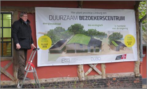 Ludwig bij de bekendmaking van de plannen voor het bezoekerscentrum Nieuwenhoven