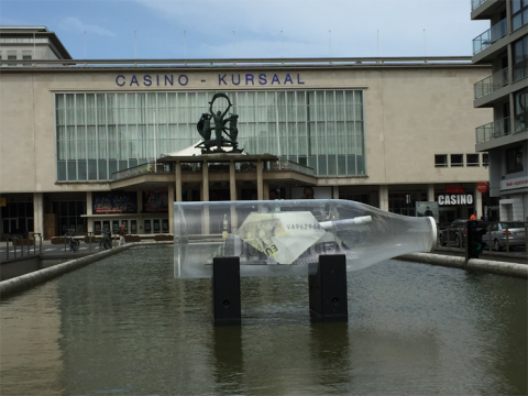 Werk van Tom Herck aan Casino Kursaal Oostende