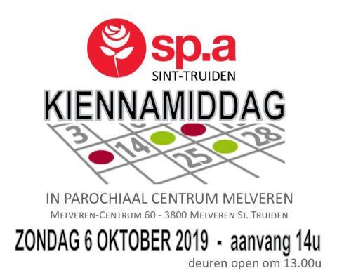 Kienen op 6 oktober om 14 u. in Parochiezaal Melveren