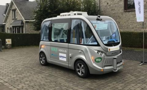 zelfrijdende elektrische shuttle