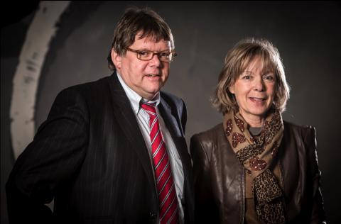 : foto van Ludwig Vandenhove, gedeputeerde provincie Limburg, en Thérèse Mahy, gedeputeerde provincie Luxemburg