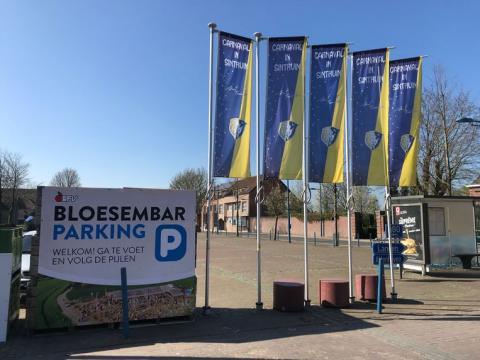 Vlaggen carnaval bij start Bloesemseizoen - DSS - HLN