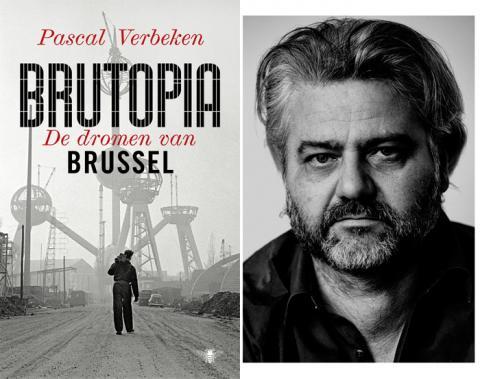 Compilatie cover Brutopia en schrijver Pascal Verbeken