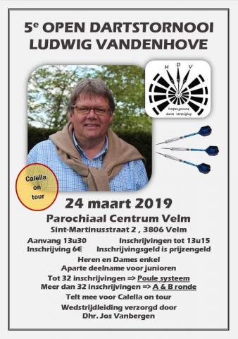 Affiche dartstornooi 24 maart 2019