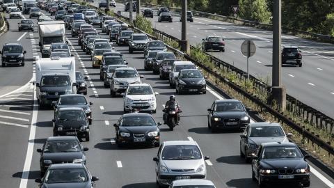 File op autosnelweg