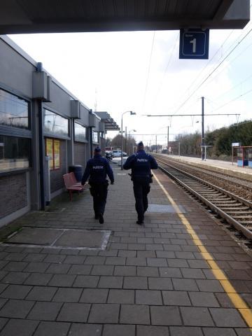 Politie patrouilleert in station Sint-Truiden