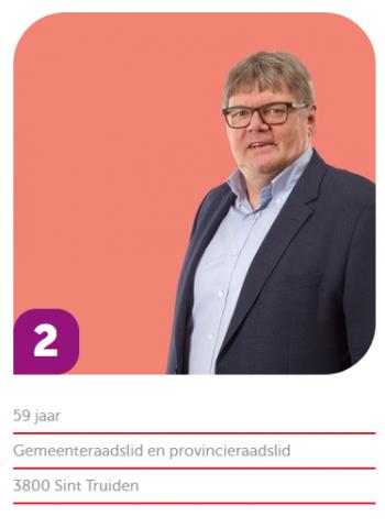 Ludwig Vandenhove, 2de plaats effectief Vlaamse lijst