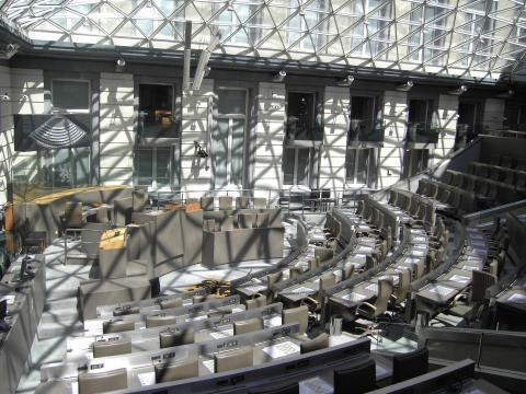 Vlaams parlement - lege zaal