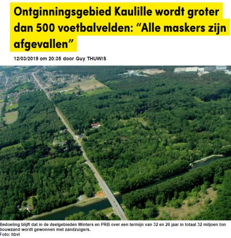 Zandwinning Kaulille - bosgebied
