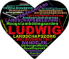 tekening van een hartje met naam 'Ludwig'