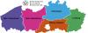 Logo VVP en kaart Vlaamse Provincies